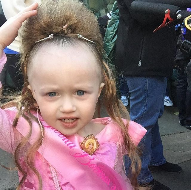 That time we went to Disneyland and their in house salon gave Allie some kind of mullet hair extension. 😂