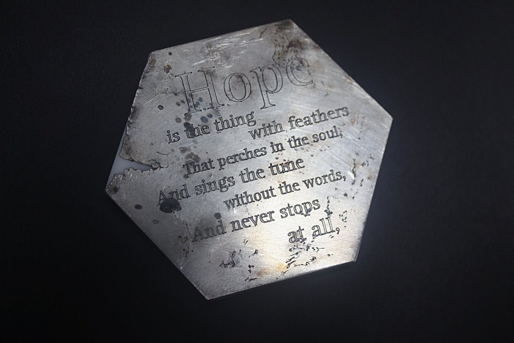 memorial plaque for Hope