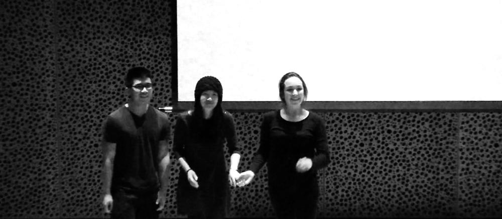 From the left: Mark Lee, Rosa Park, Charlotte Hacke