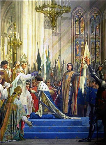Den 17 juli 1429  kröner Jeanne d'Arc Karl den VII i katedralen i Reims