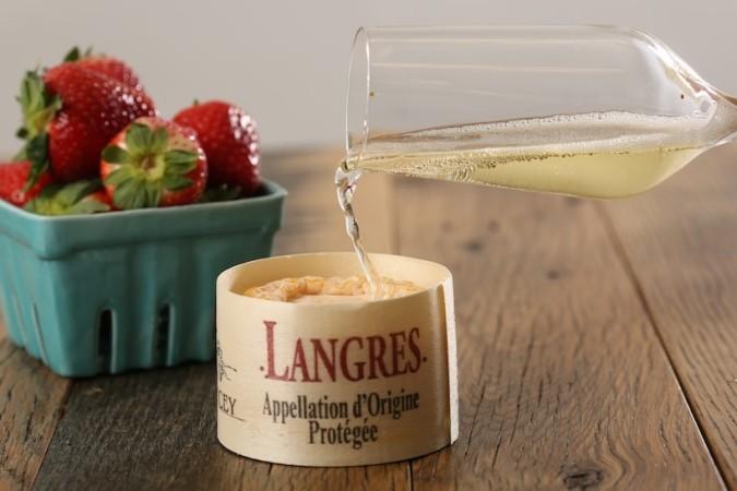 champagne och ost