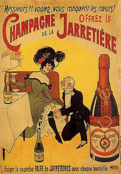 Strumpebands champagne!