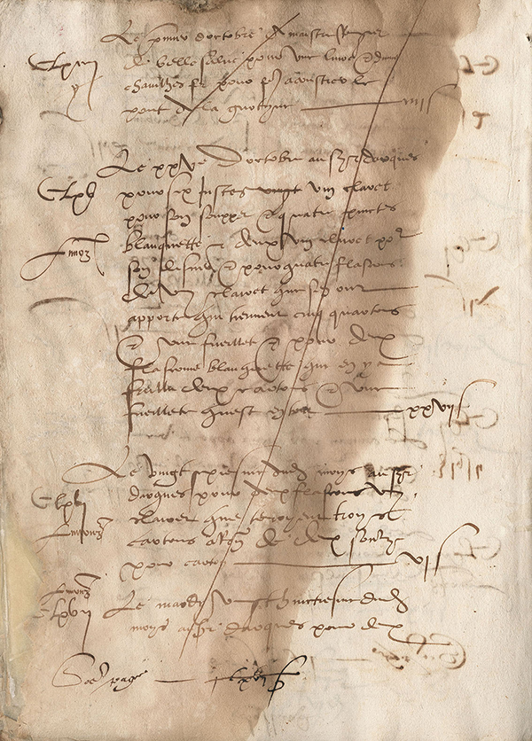 Första skrivna dokumentet om bubblande Blanquette - 1544 ?