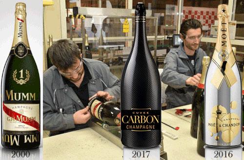 Mumm-Jeroboam specialdesignades för sprutning och reklam..texten uppochner 2000-2016! M&C 2016, nu  CARBON  2017.