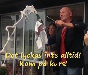 Ictum nil vino  Sabreringssällskap ..spruta champagnen!