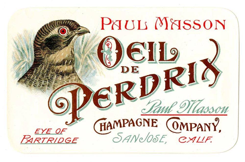 Fake champagne Paul Masson - Oeil de Perdix