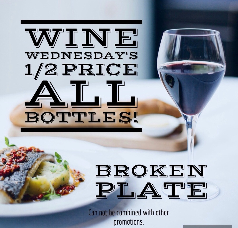 Broken Plate Calgary Wine Wednesday Special
