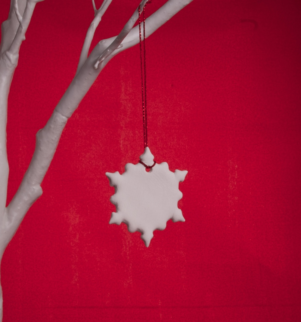 Handmade White Clay Snowflake - £2.50 each or 5 for £10 + p&p