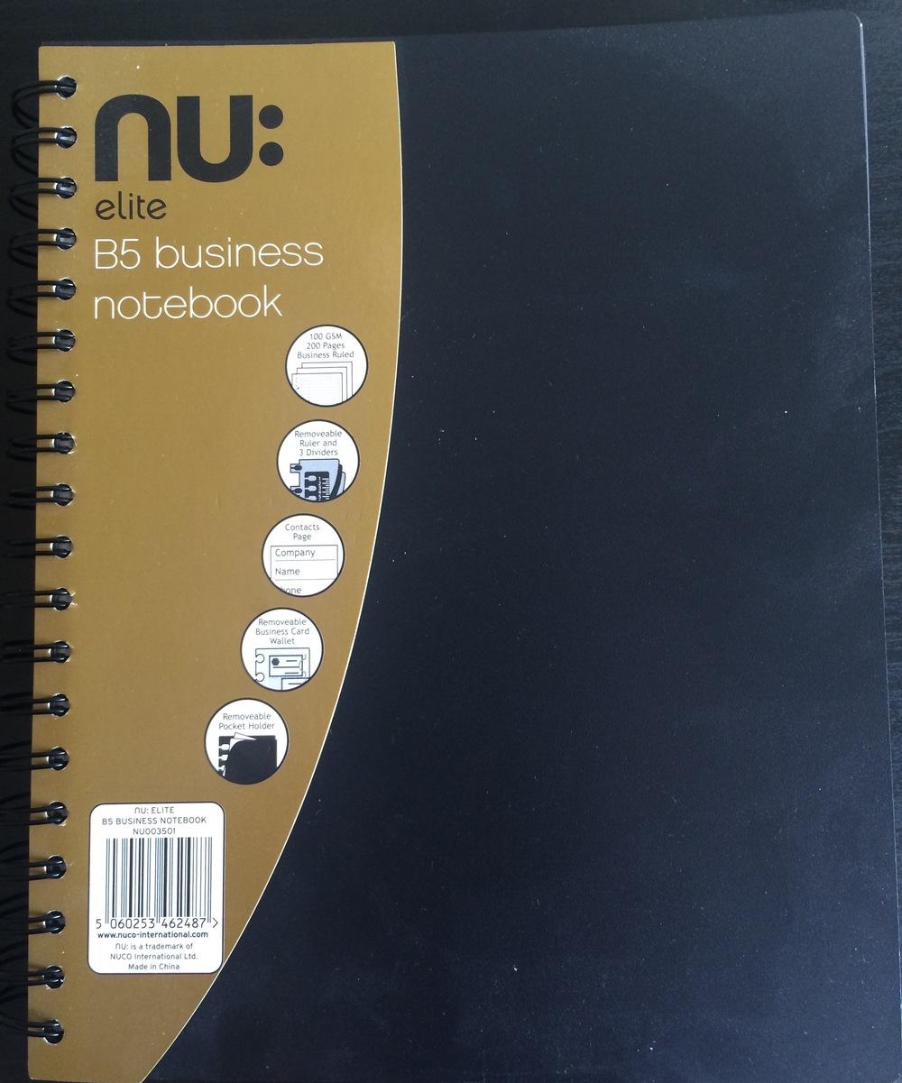Nu Elite B5 Business Notebook Informal Scribble