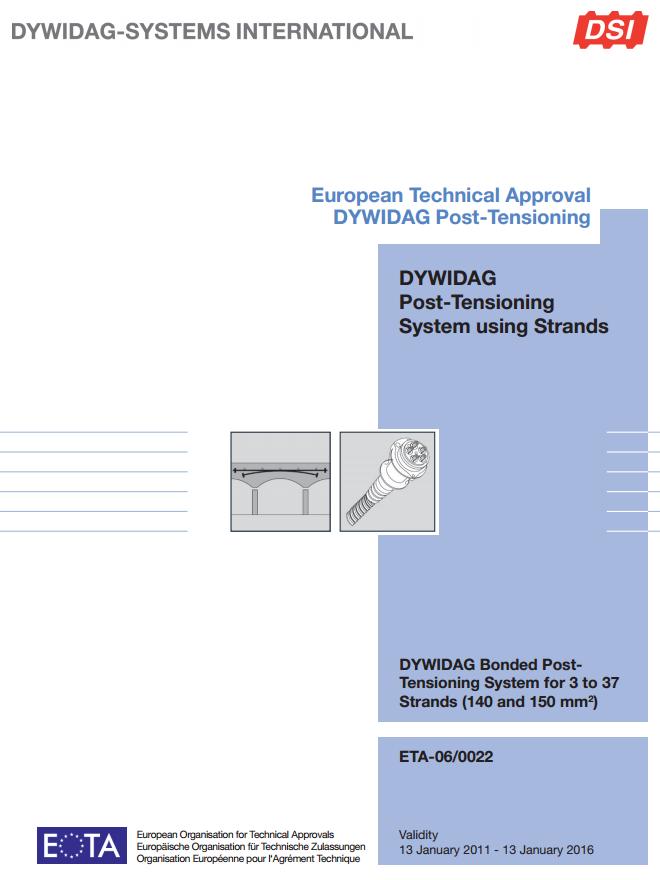 ETA-06/0022 Bonded Post Tensioning System-using Strands