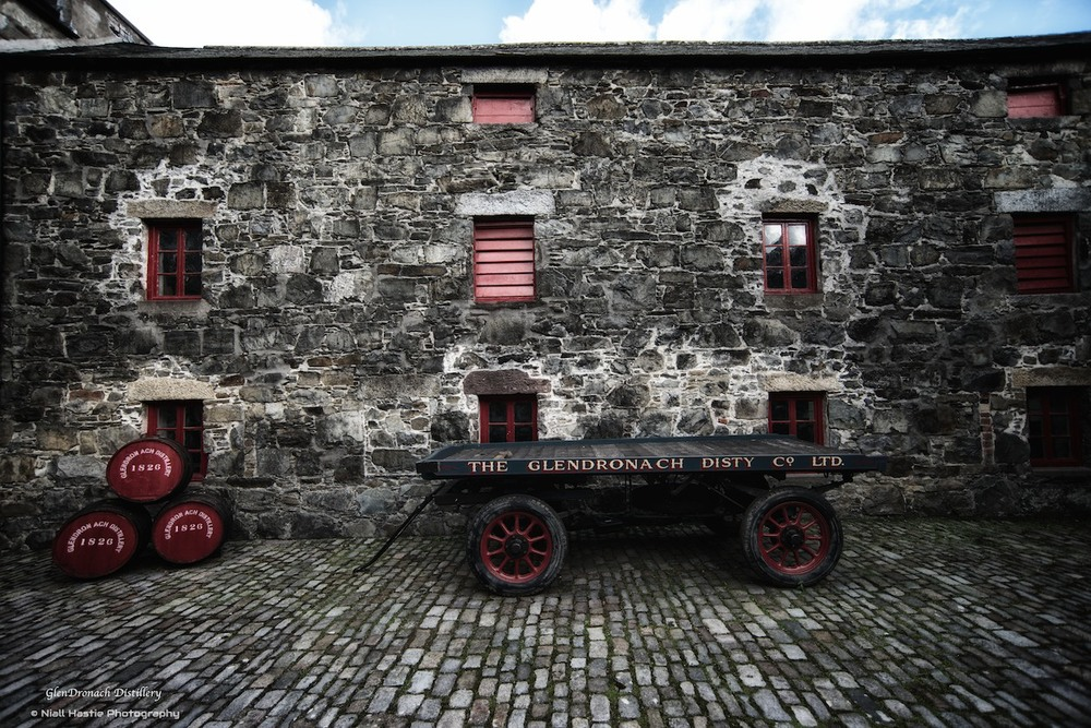 An original cart from early days at the distillery, which was used to transport casks to Rothienorman nearby before they were put on the train for transport elsewhere. It sits outside the old Mill House where the barley was spread and allowed to germinate after soaking.