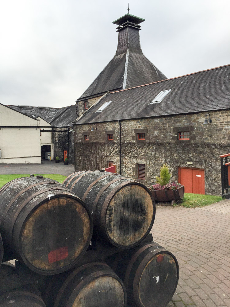 Looking towards the main distillery buildings.