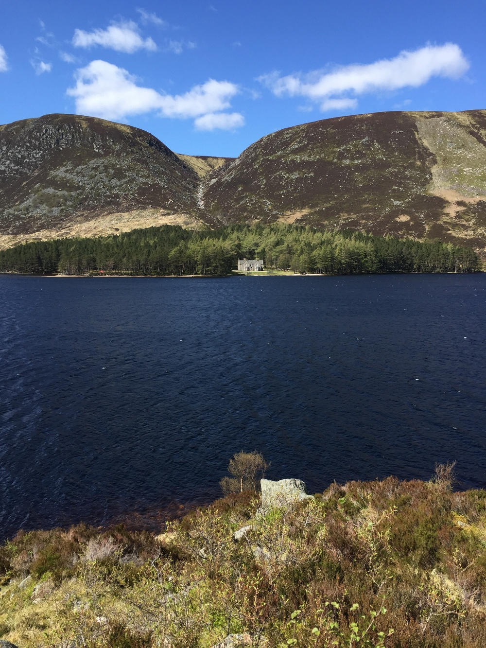 Facing Glas-Allt-Sheil from the south side of Loch Muick.... plus the sun's out !