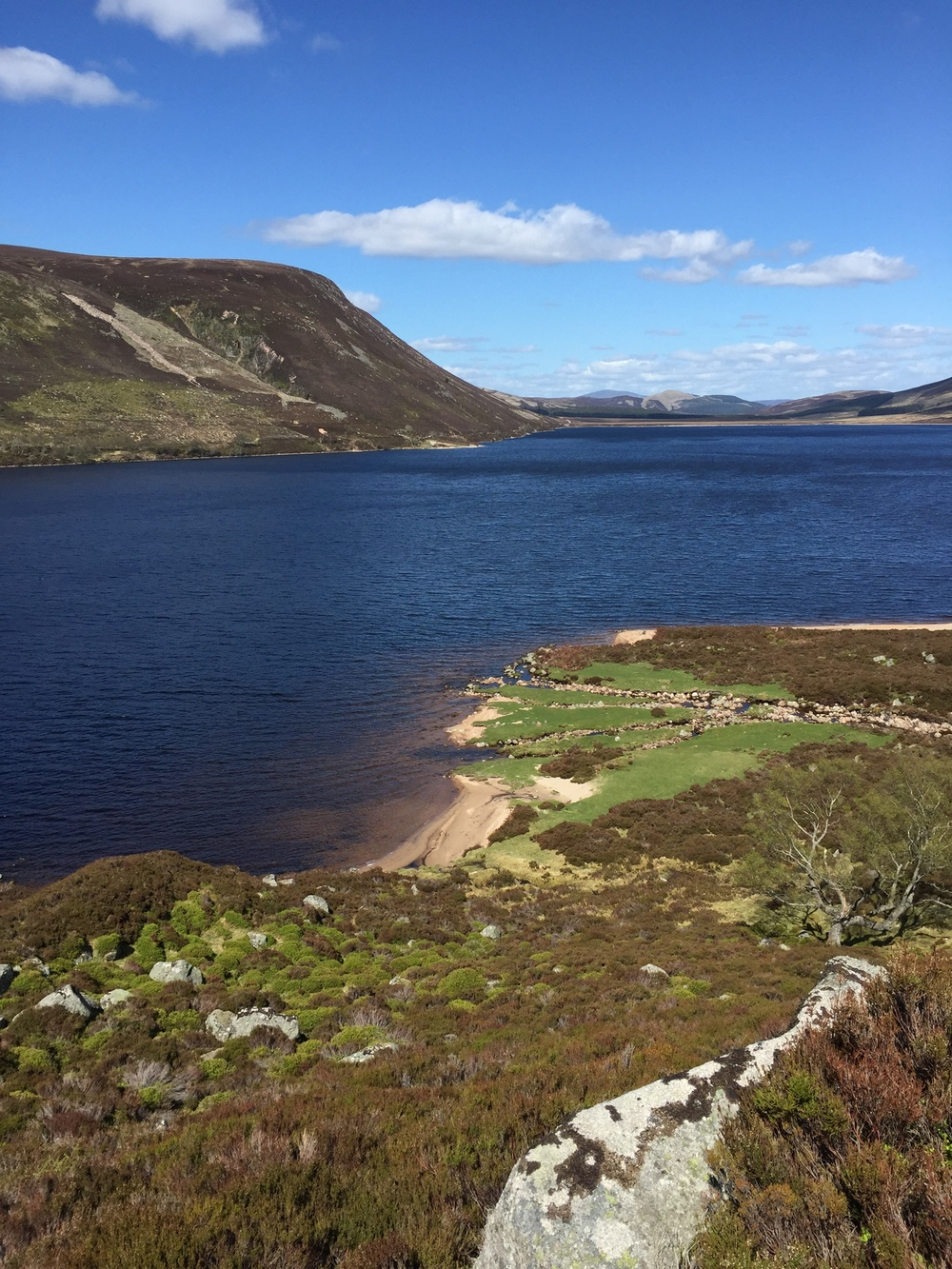 The 'beach' at Loch Muick.. a favourite spot of mine to stop at.