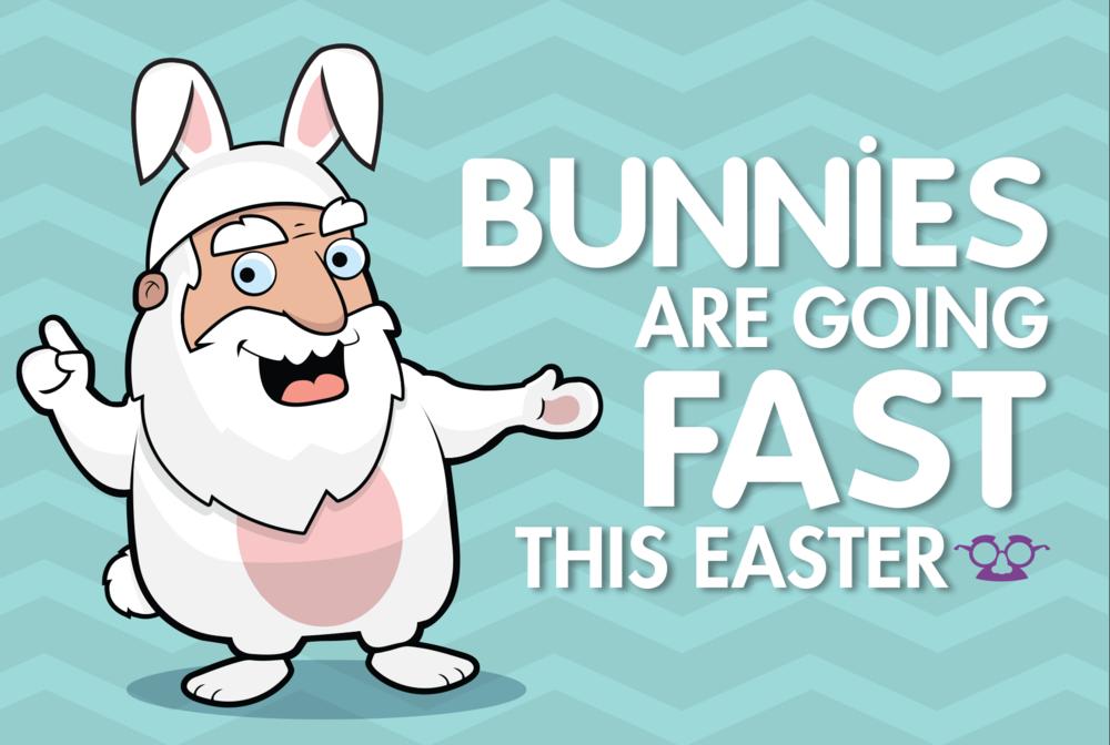 Easter Bunny Rental Postcard (front)