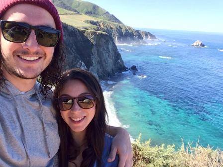 Big Sur, CA at the Bixby Bridge (sunnies: Bunky Boutique!)