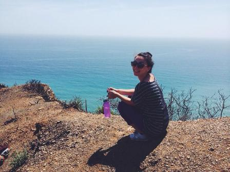Coastal hike in Malibu off Highway 1