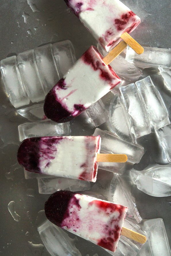 Ice pops made with fresh berries and coconut milk from Gluten Free on a Shoestring