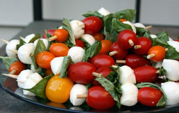 Caprese Salad Skewers by  ATX Gluten-Free