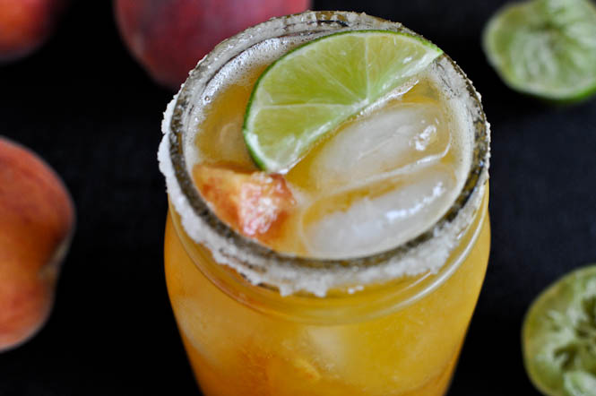 Juicy Peach Margs from How Sweet It Is