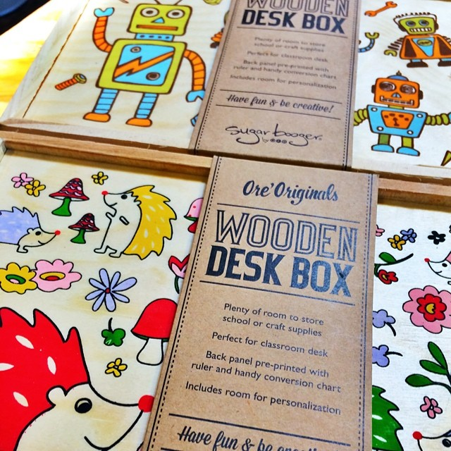 Wooden Desk Box via Luci's Healthy Marketplace's Instagram