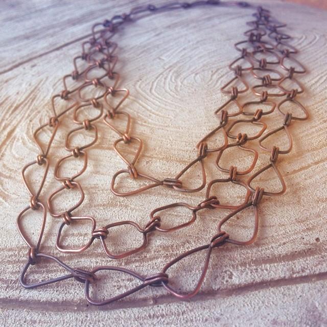 triple copper chain necklace.jpg