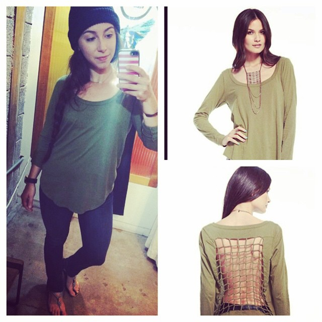 Cross Back Long Sleeve @ Bunky Boutique