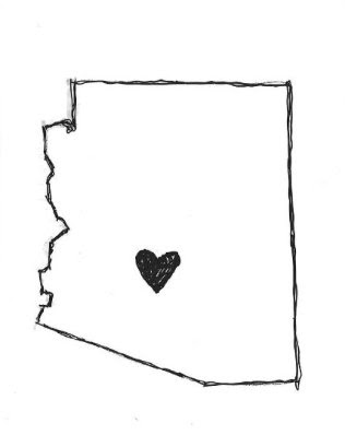 The hand drawn 'Arizona Love' design by Chris Nieto exclusively for Bunky Boutique
