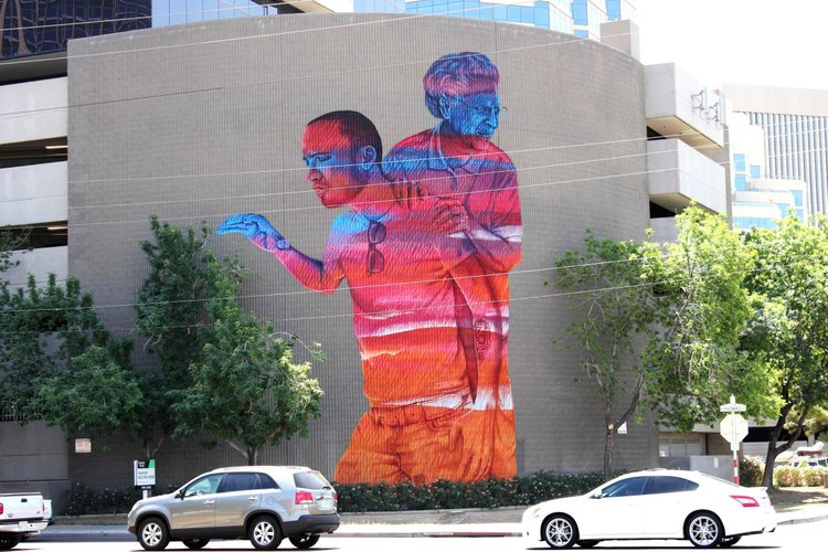'Generations' mural in Phoenix by JBAK photo: jbakonline.wordpress.com