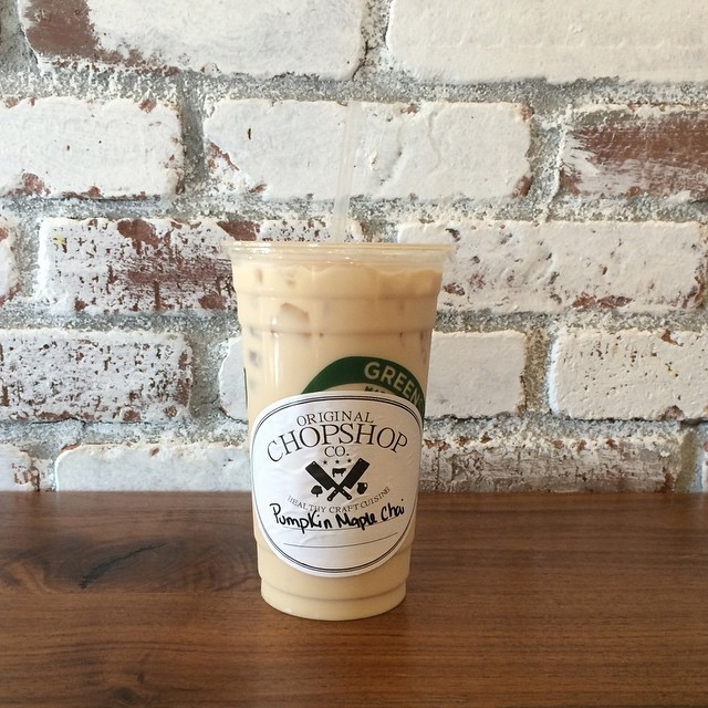 Pumpkin Maple Chai Tea from Original Chop Shop Co. Image: ChopShopCompany Instagram