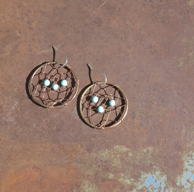 Dreamcatcher Earrings- Turquoise