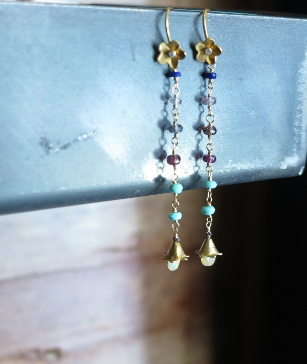 New Ethiopian Opal earrings from Melissa Zaki