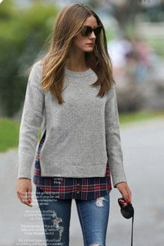 layer a pullover over your flannel for a cool peek-a-boo look