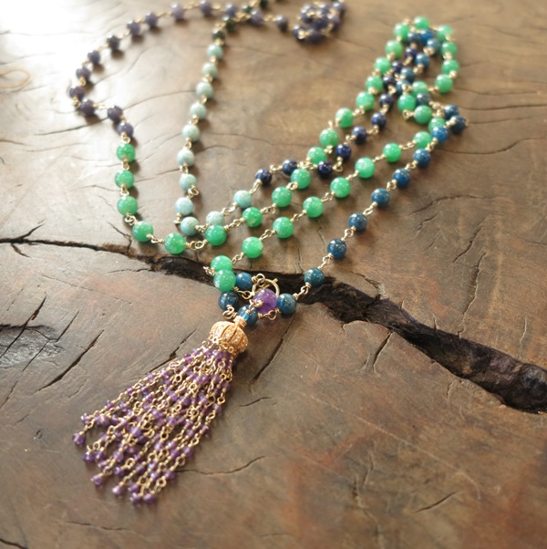 Green Jade Multi Stone Mala $160
