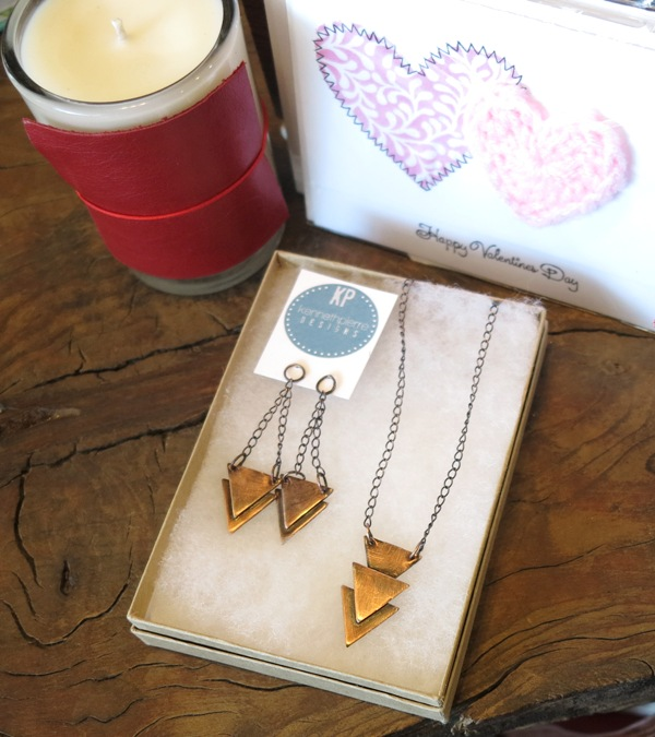 Copper Triangle Set $38 each