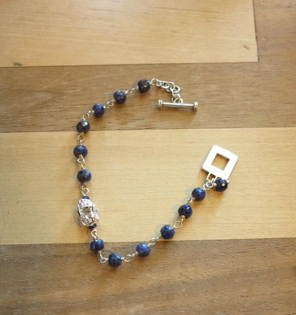 Sterling Buddha Bracelet