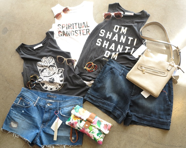 Essential Spiritual Gangster Muscle Tees  +  Denim   +  festival ready bags