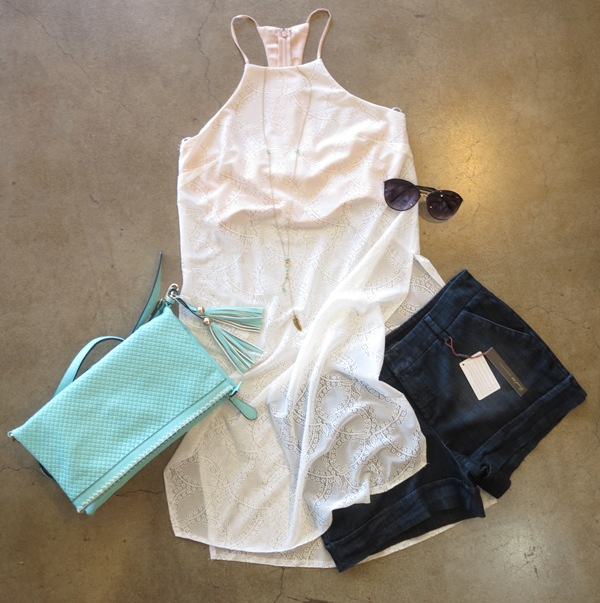 Daydream Top  +  Trouser Short  +  Patty Foldover Clutch