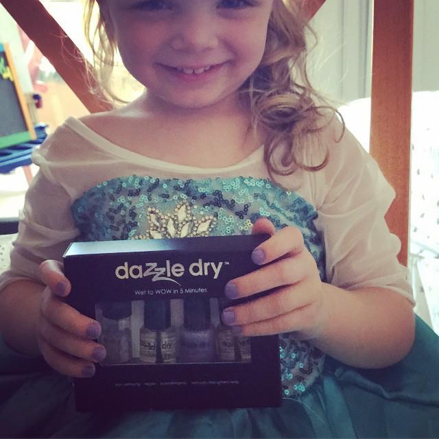 Cooper (AKA Elsa) loves her Dazzle Dry!