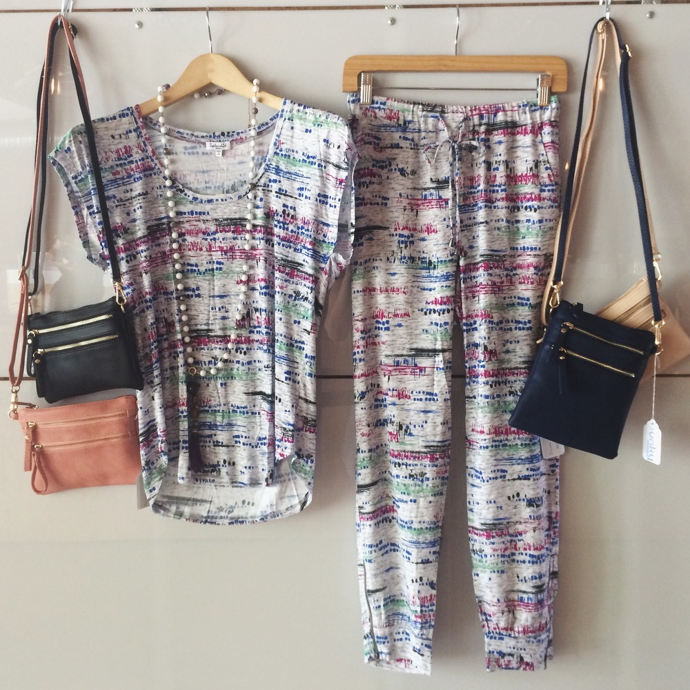 Better Together: the Splendid matching  Relaxed Pant  and  Scoop Tee.