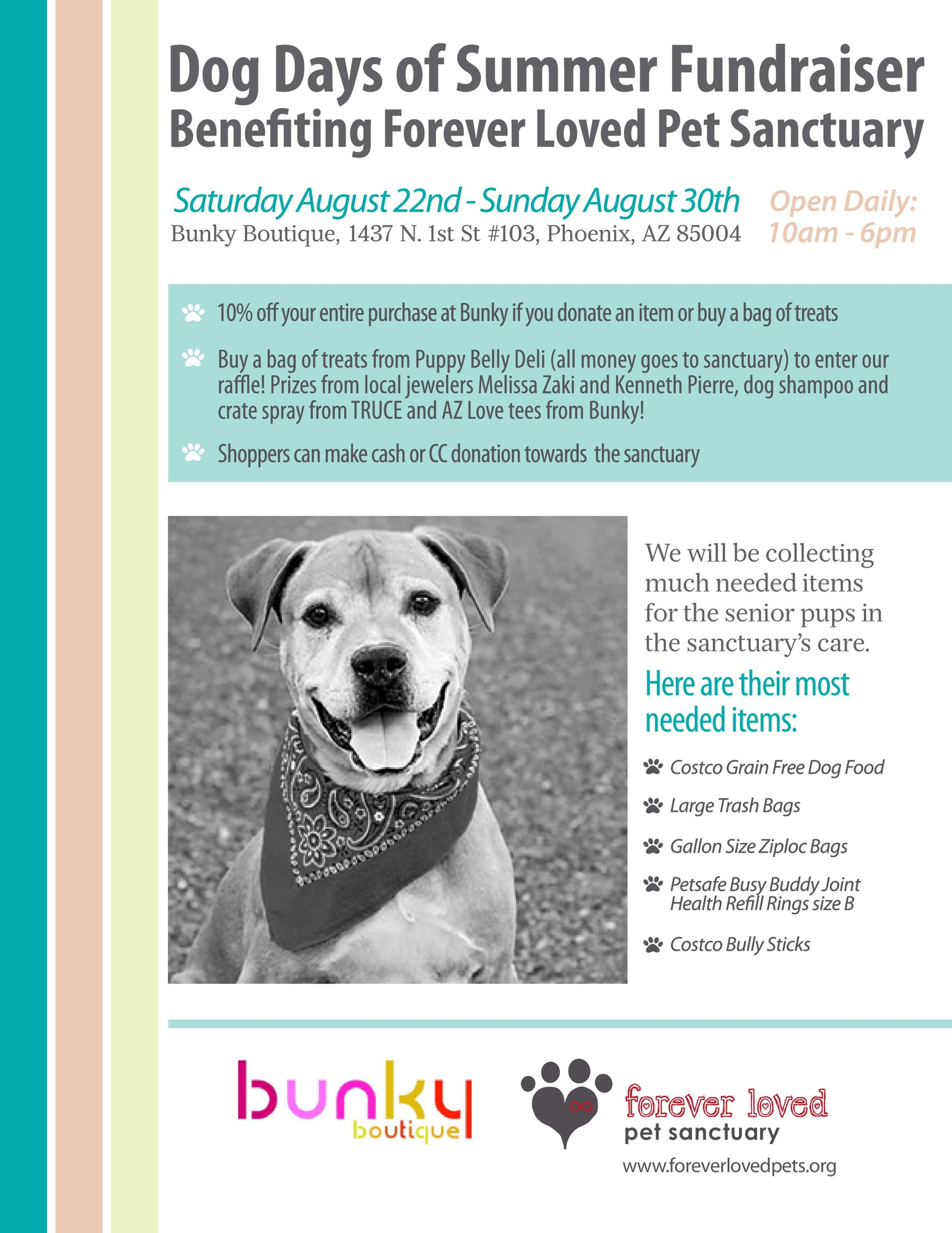 Dog Days of Summer August 22nd-30th — bunky boutique