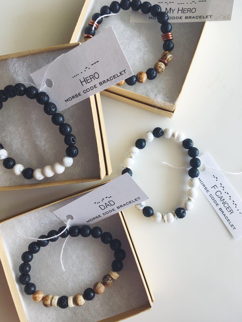 New! - Morse Code Bracelets