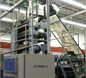 Goss 4-high tower equipped with a PRIME UV Curing System.