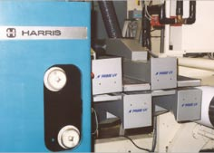 Harris M110 5-unit Commercial Web Press equipped with a PRIME UV Curing System.
