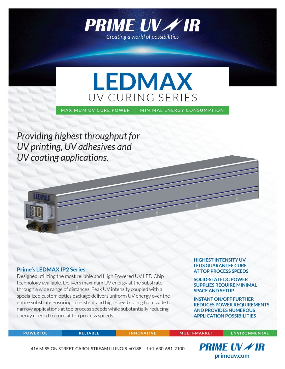LED Max UV Curing Series Information sheet