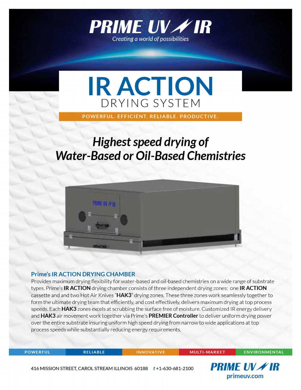 IR Action Drying System Information sheet