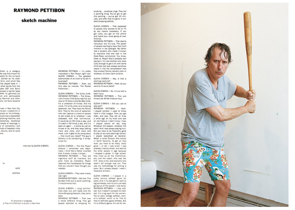 Raymond Pettibon for Purple Issue 24