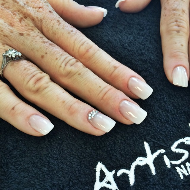 Beautiful wedding nails done today by Gary! X