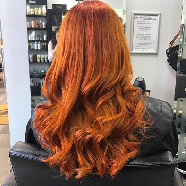 Absolutely beautiful #hairtransformation by Amy in salon #copperhair