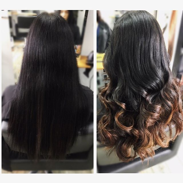 Alex gently lightened his clients hair slowly introducing her to #balayage for the summer